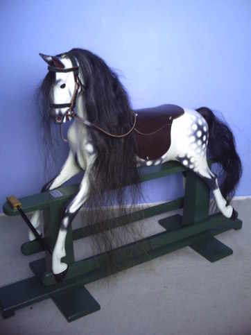 This Haddon rocking horse's restoration now complete.