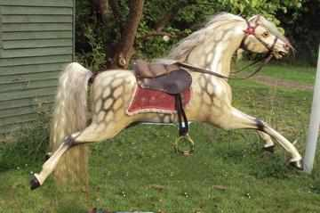 Reckless Beautiful Early Bow Rocking Horse waiting for his bow
