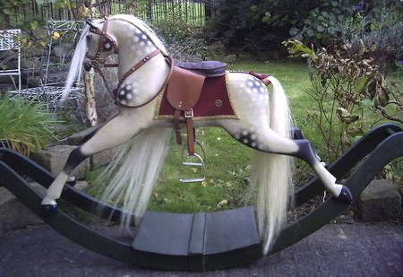 Brassington Cooke Rocking horse restored