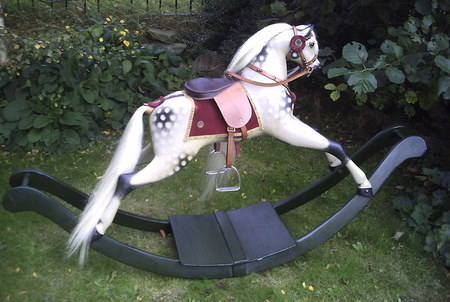Antique rocking horse by Brassington & Cooke