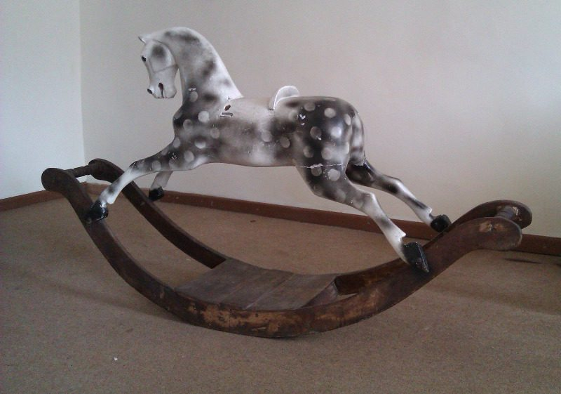F H Ayres bow rocking horse unrestored