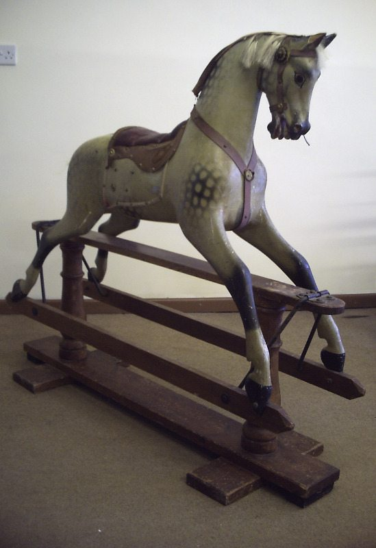 FH Ayres rocking horse in original condition