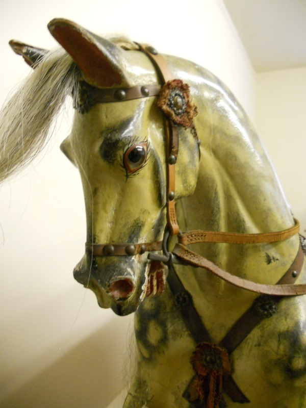 Beautiful Leach Rocking Horse with such fine carving detail