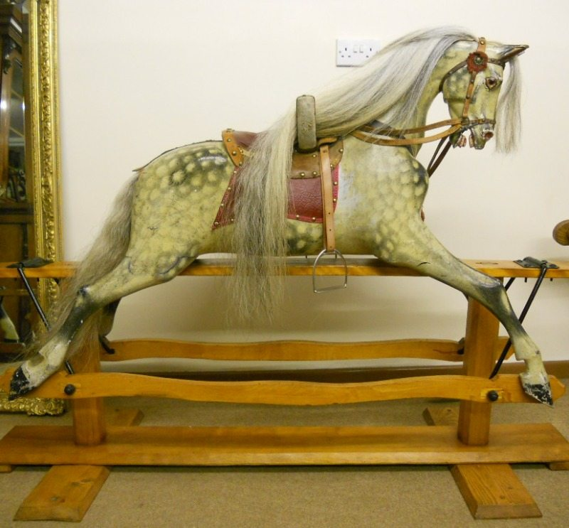 Antique rocking horse attributed to Paul Leach.