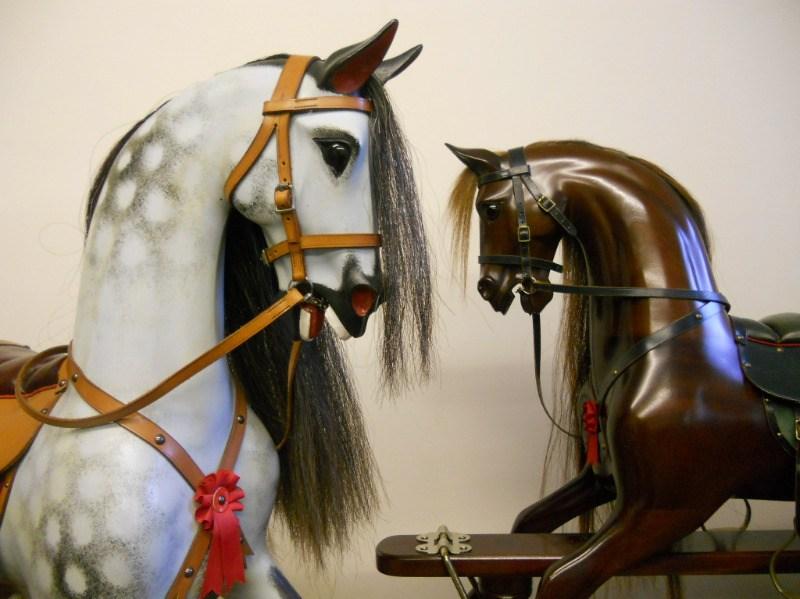 dapple grey & mahogany Stevenson Brothers rocking horses