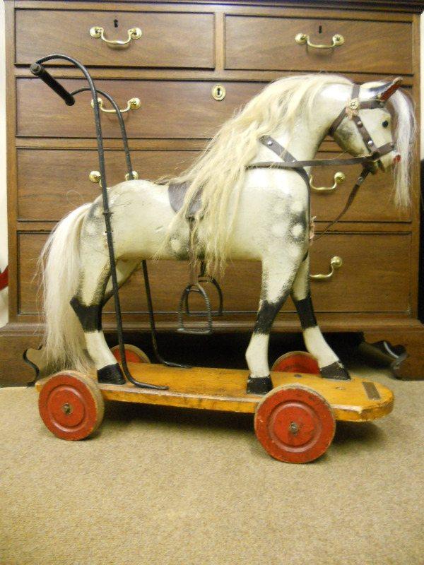 Alfie Antique Toy Push Horse