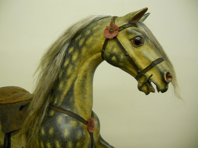 Legend - a beautiful antique bow rocking horse circa 1850