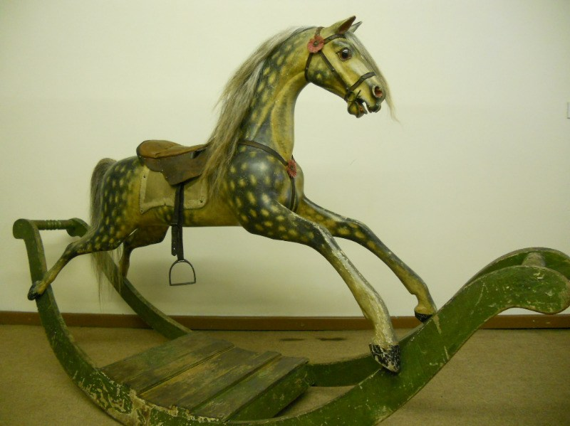 Legend - superb example of a bow rocking horse with original oval dapples t