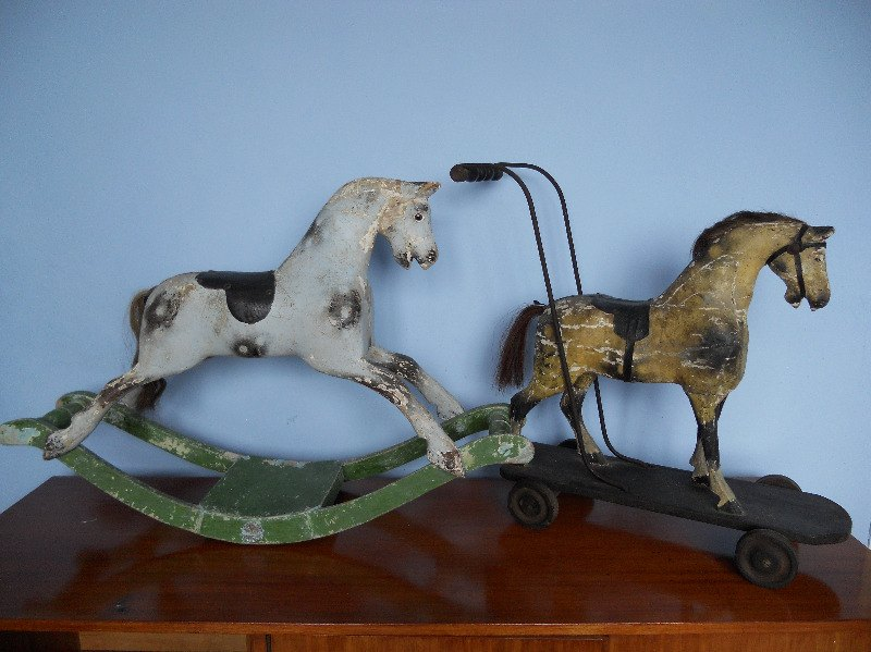 Bracken & Snippet Old Push Horse Toy & Rare 00 Lines Sporti Boy Bow