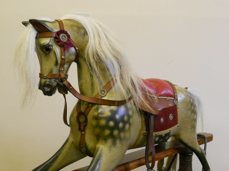 FH Ayres rocking horse in restored condition