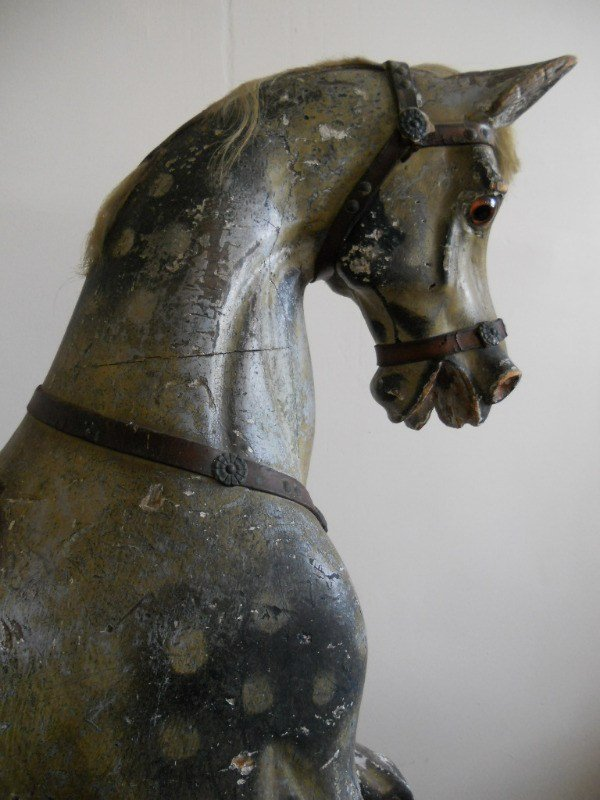 Head view G J Lines Early Period Rocking Horse