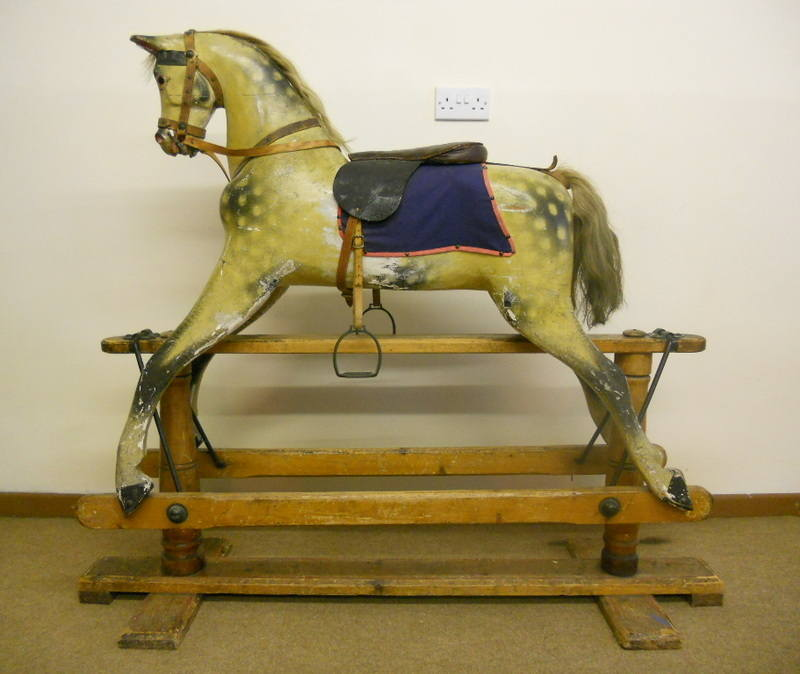 A vintage Sportyboy rocking horse by Lines Bothers
