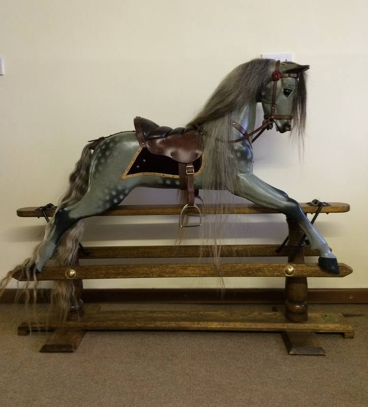 Legends dapple grey bespoke rocking horse