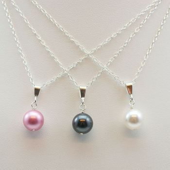 Classic Crystal Pearl Pendant (More colours)