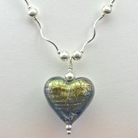 Blog - Sapphire Gold Murano Heart Necklace
