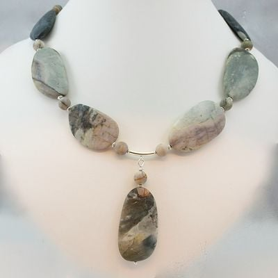 Blog - Picasso Jasper and Sterling Silver Necklace