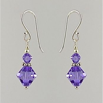 Swarovski Crystal Earrings (Tanzanite)