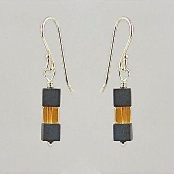 Hematite and Rock Crystal Earrings