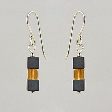 Hematite and Rock Crystal Earrings