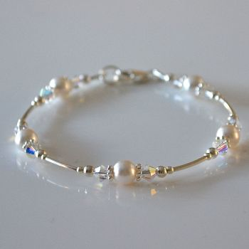Swarovski Pearl and Crystal Bracelet