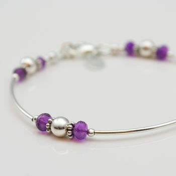 Sterling Silver Birthstone Bracelet (More Colours)