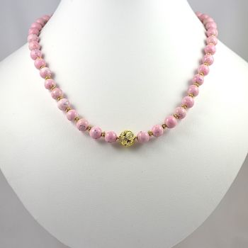 Rhodochrosite and Vermeil Necklace