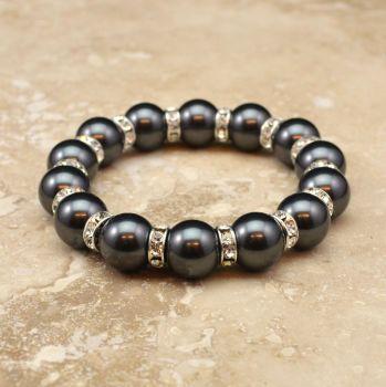 Crystal Pearl Bracelet (More Colours)