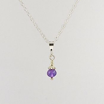 Gemstone and Sterling Silver Pendant (various gemstones available)