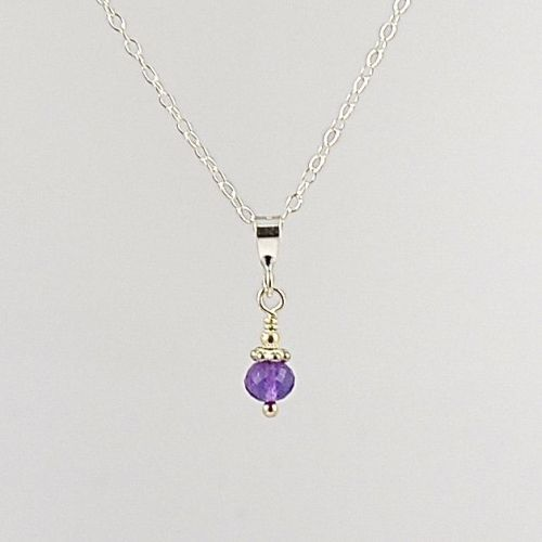 Gemstone and Sterling Silver Pendant (Amethyst)