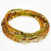 Tourmaline and Vermeil Necklace (or multi-wrap bracelet)