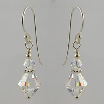 Swarovski Crystal with Daisy Earrings (Crystal AB)