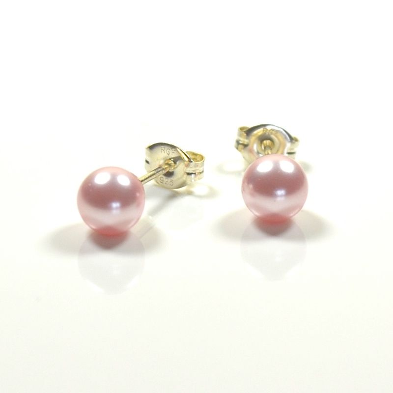 Classic Pearl Stud Earrings 8mm (Rosaline)