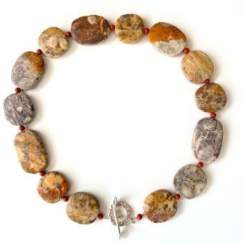Birds Eye Rhyolite Jasper Necklace