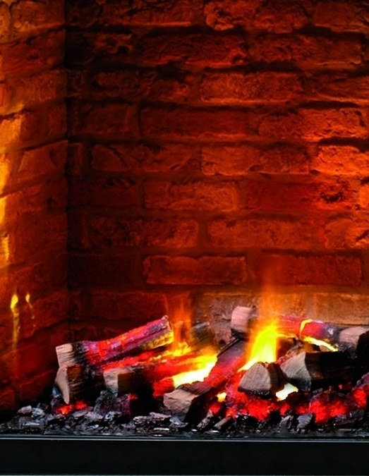 Flame Effect Electric Fires Part - 37: RF-20 Brick Effect ...