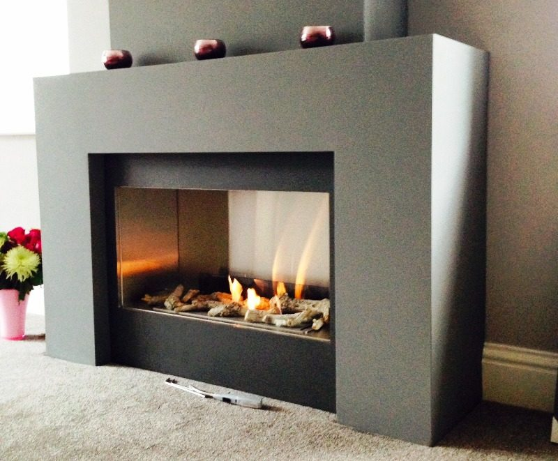 Hole In The Wall Stainless Bioethanol Insert And Large Stainless Burner