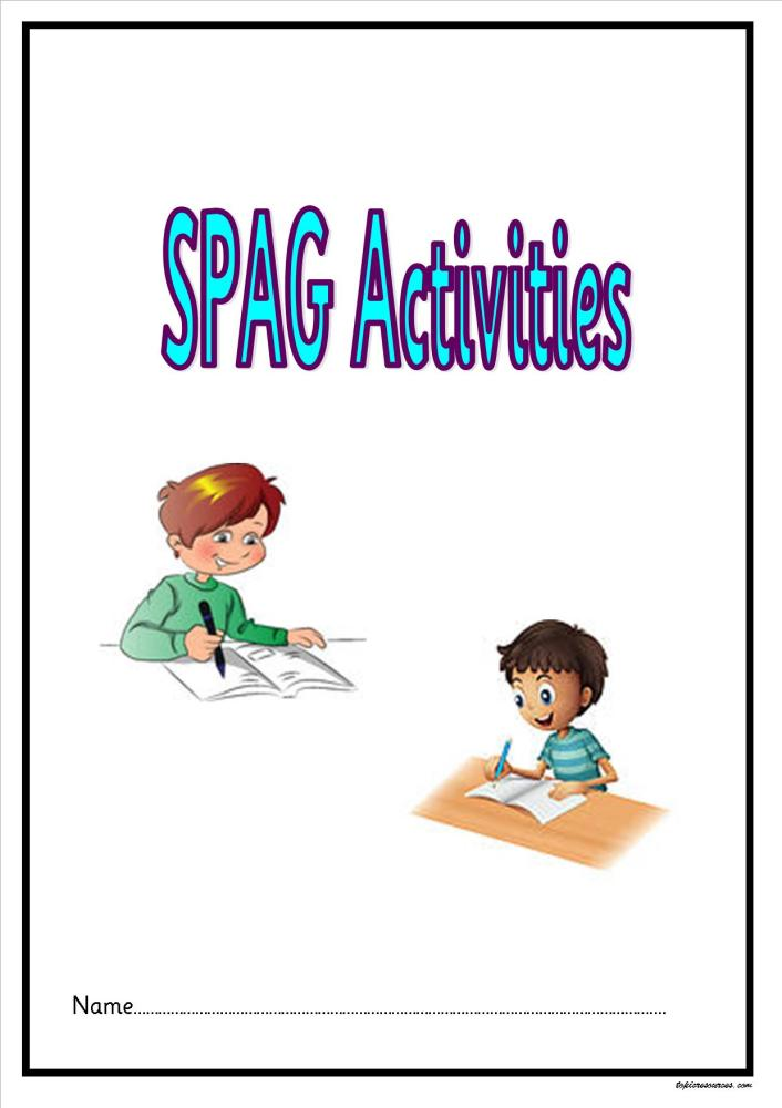 KS2 SPAG activity booklet.  An attractive set of punctuation and grammar ac