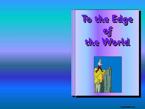 To the Edge of the World Story Pack