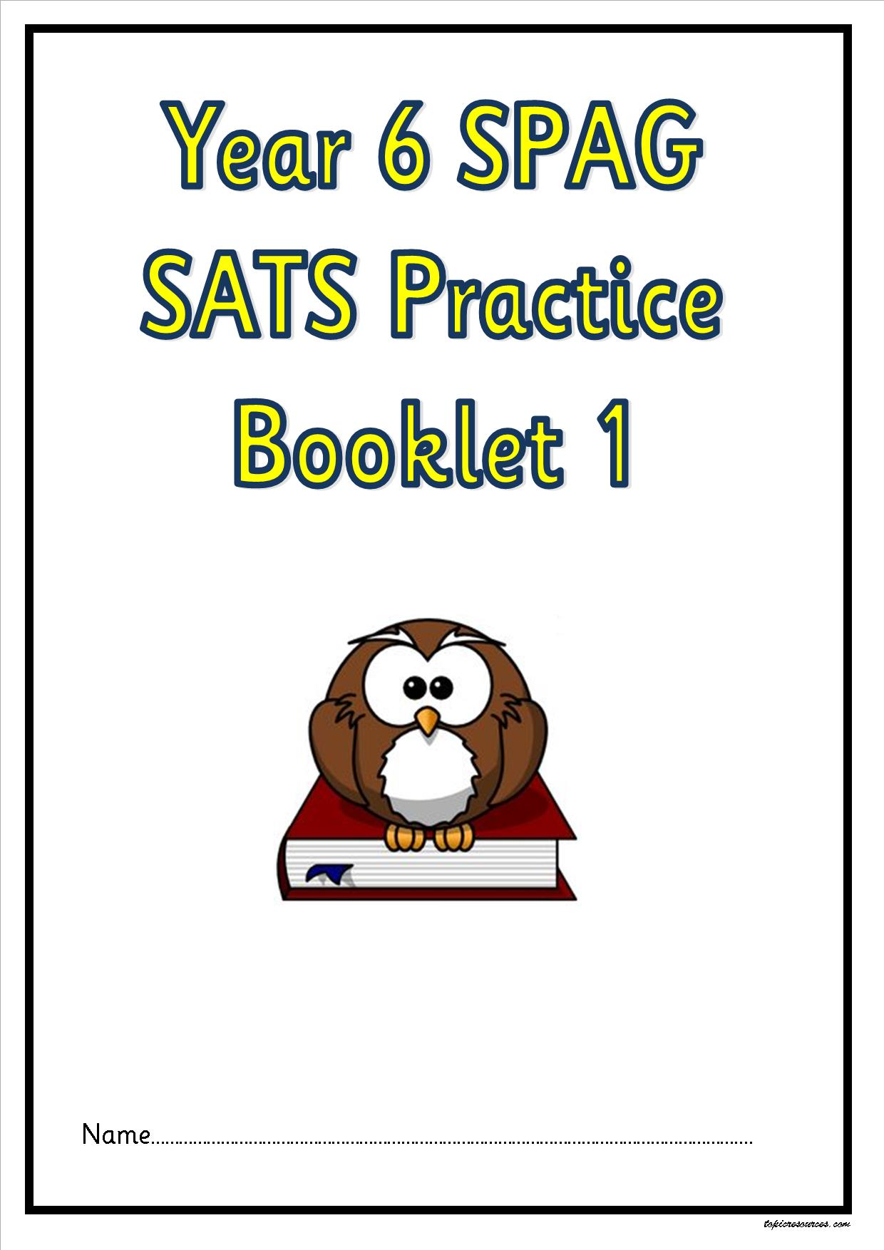worksheet Sats Worksheets Ks2 ks1 ks2 sen ipcliteracy spag activity booklets guided reading y6 sats practise 1a