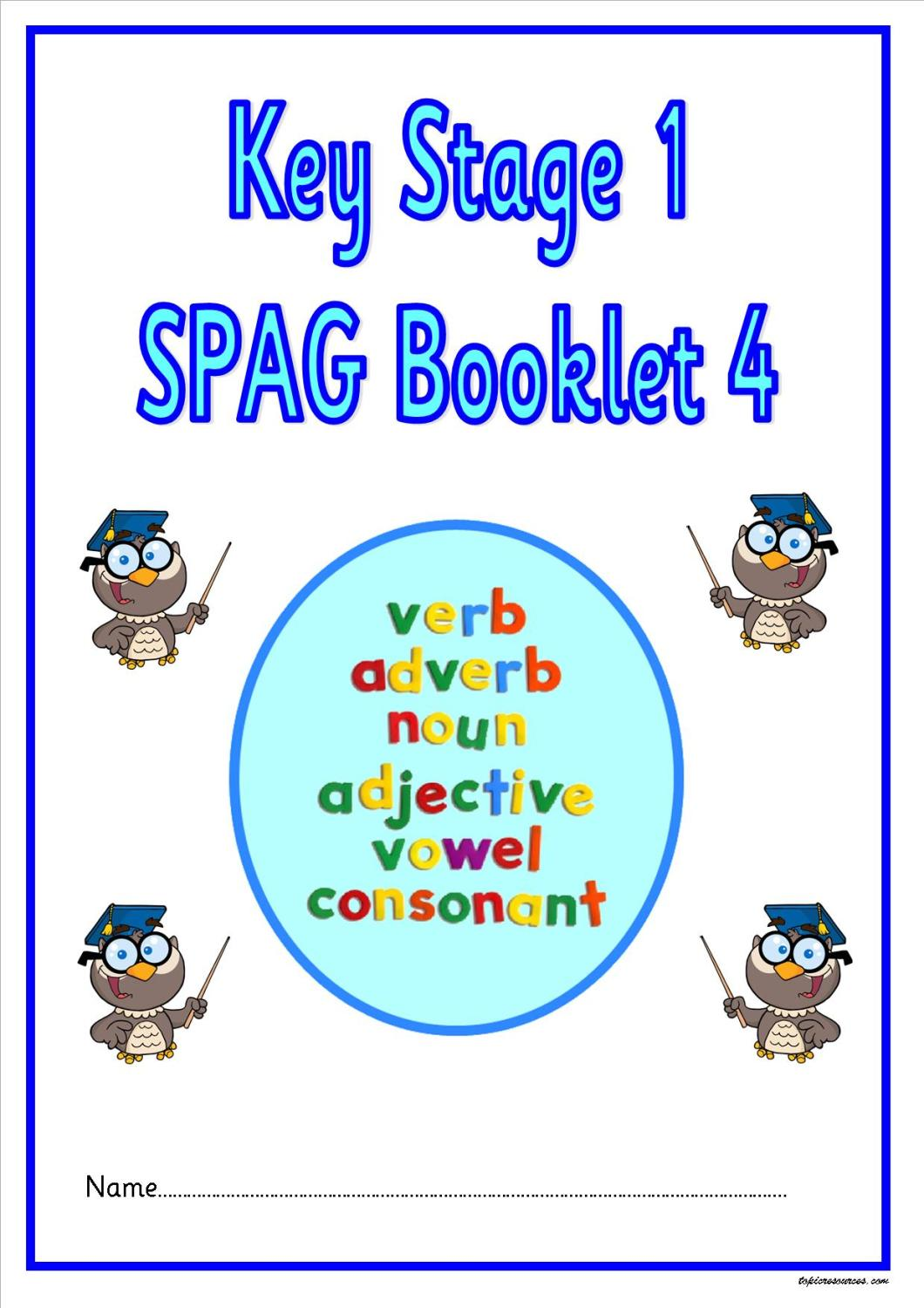 SPAG activity booklet4 for KS1 children