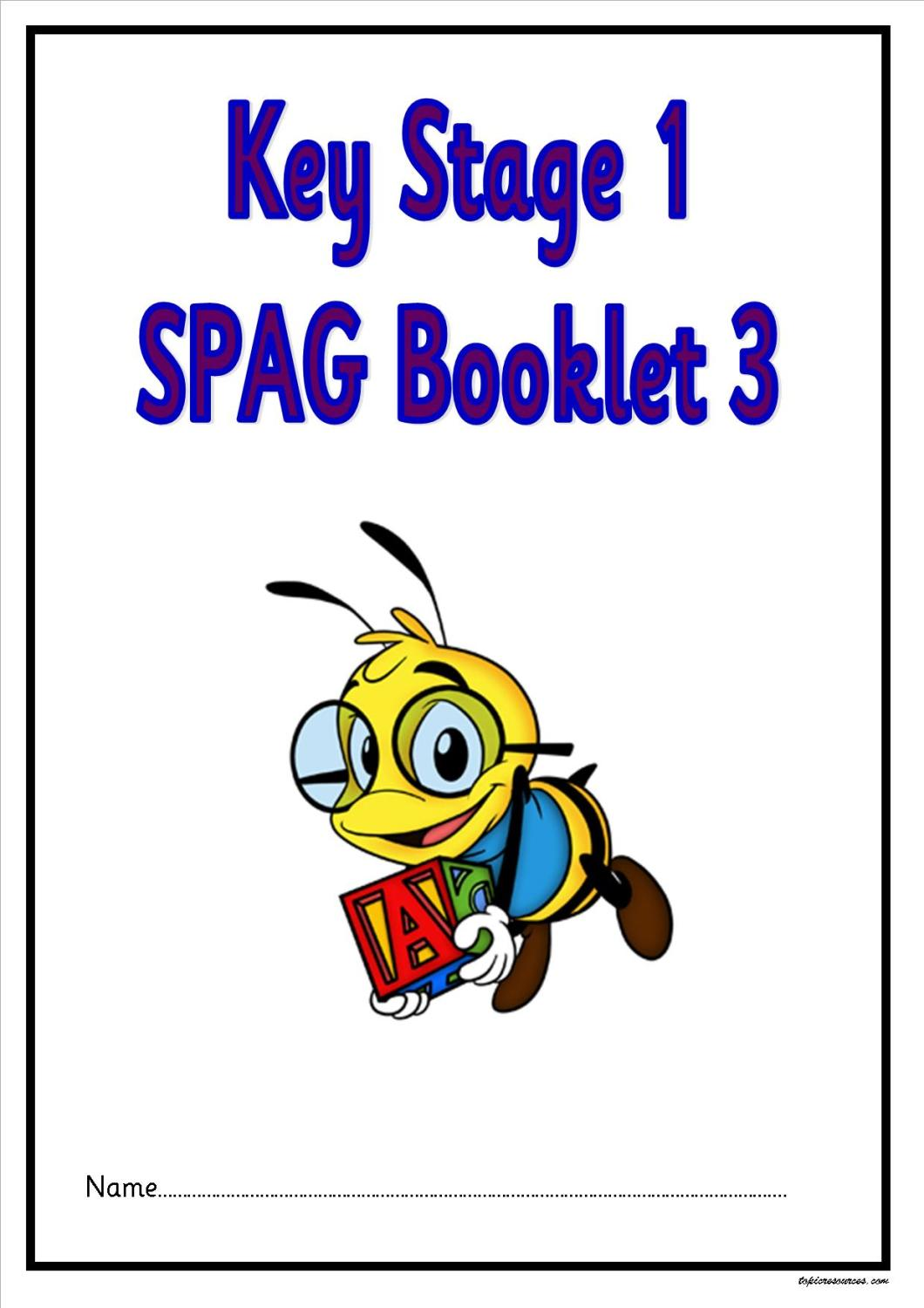SPAG activity booklet3 for KS1 children