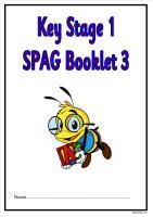 SPAG activity booklet3 for KS1 children