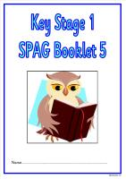 SPAG activity booklet5 for KS1 children