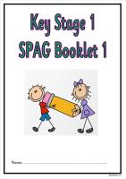 SPAG activity booklet for KS1 children