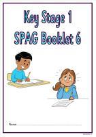 SPAG activity booklet6 for KS1 children