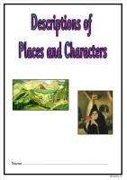 Describing Places and Characters Booklet