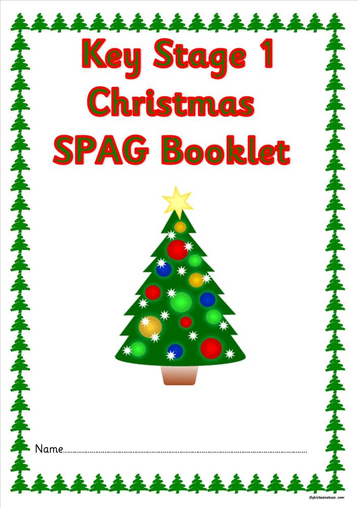 KS1 Christmas SPAG activity booklet. A great set of spelling, punctuation a