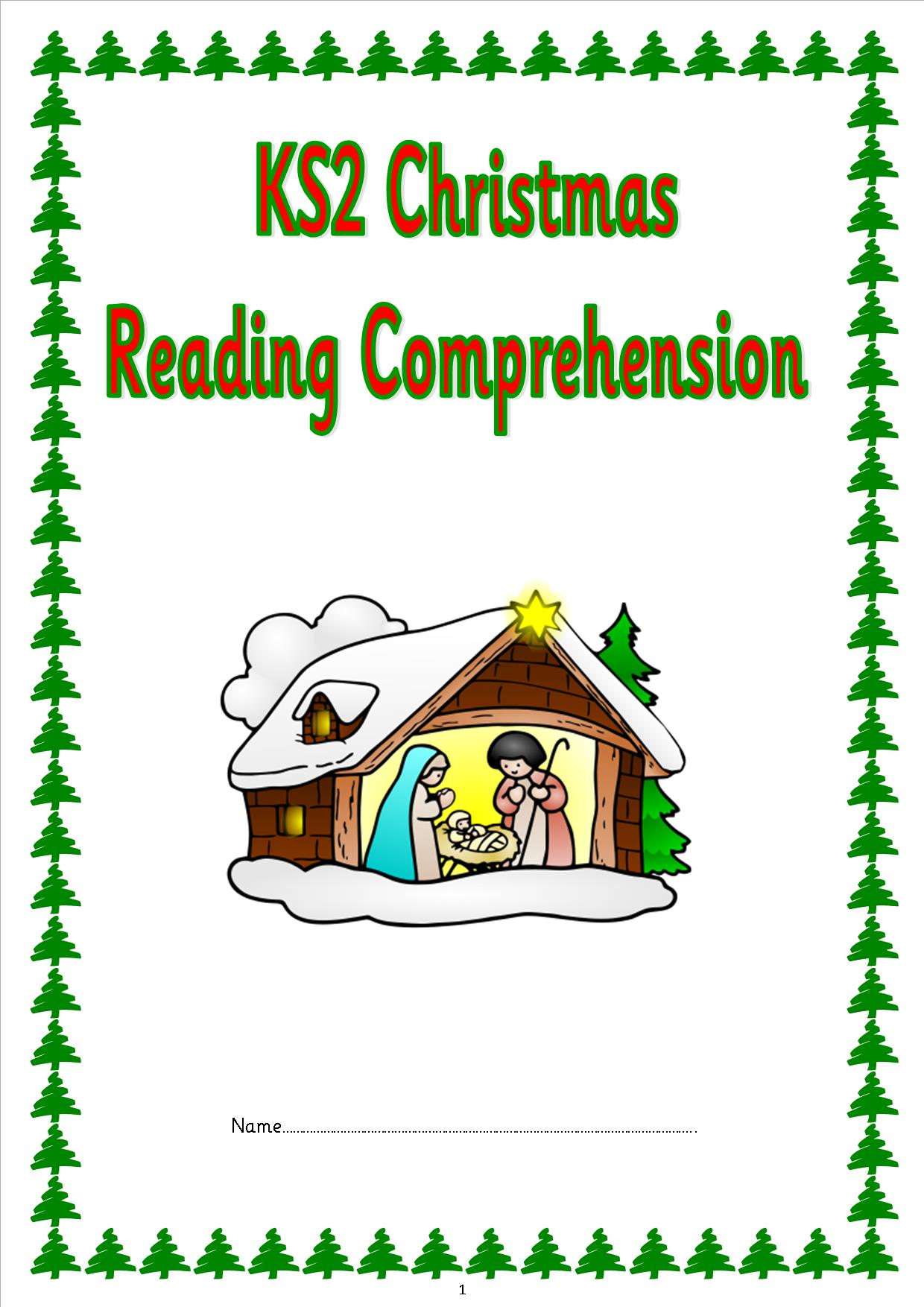 eyfs  ks1  ks2  sen  christmas comprehension papers  sats