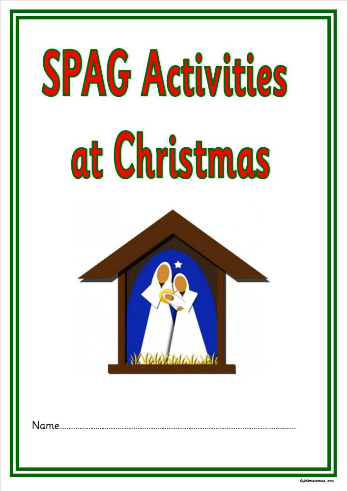 ks12 spag activities at christmas a super set of spelling punctuation and grammar activities for ks12 children
