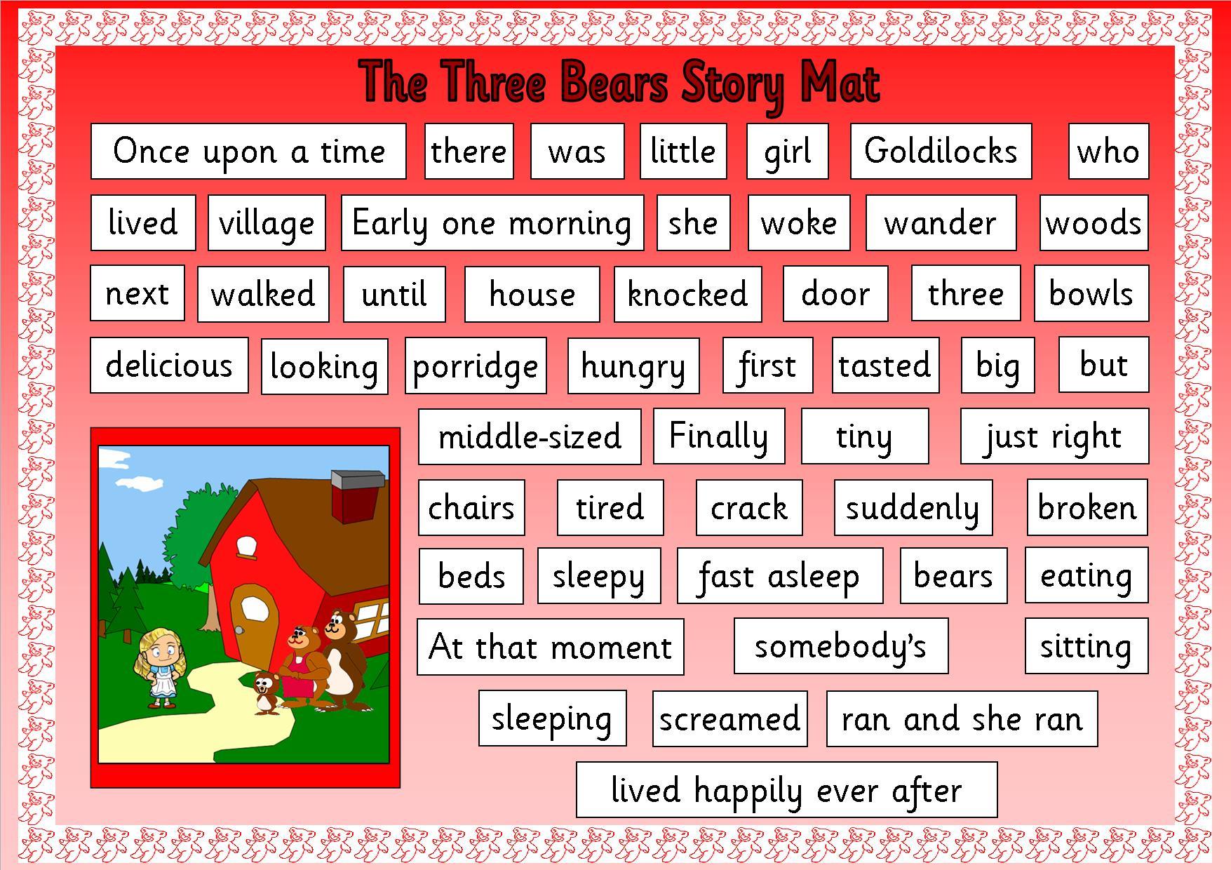 EYFS, KS1, SEN, storytelling, Goldilocks and The Three Bears ...