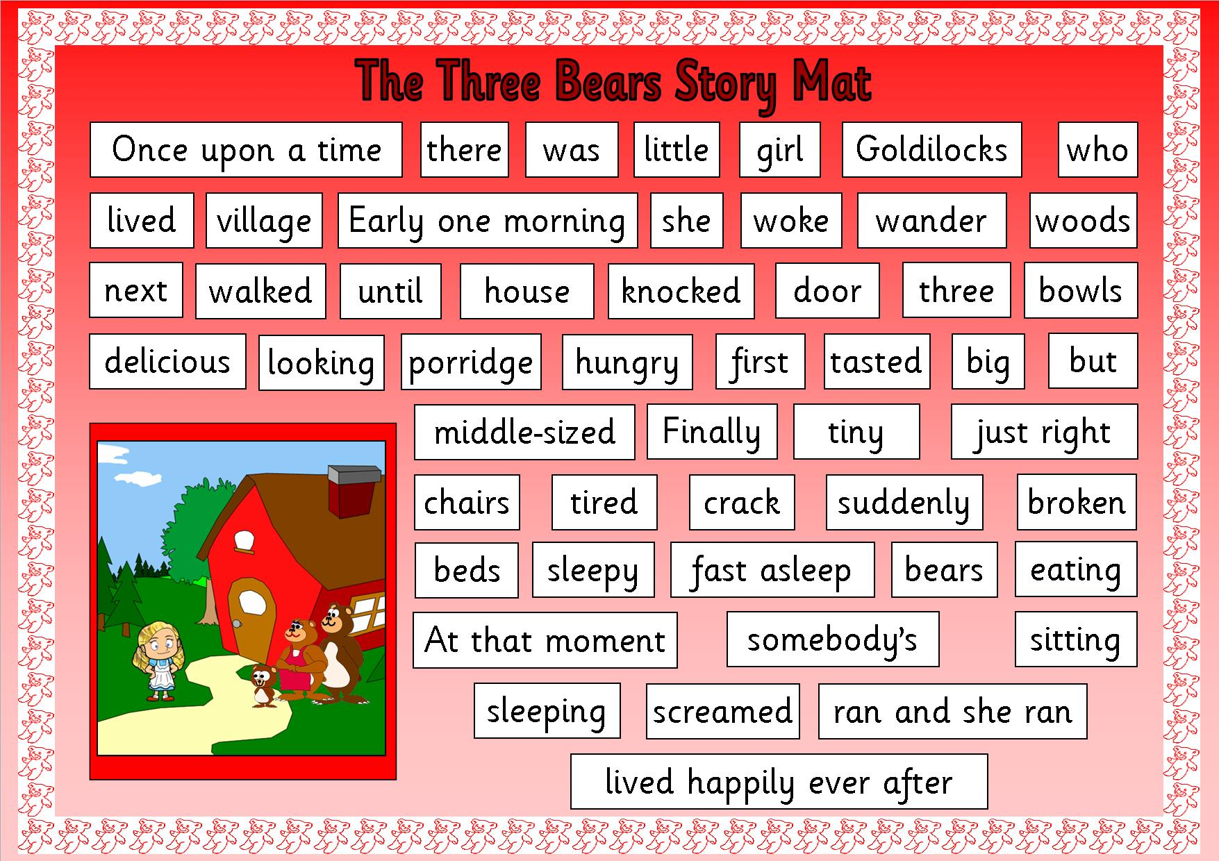 Uncategorized Goldilock And The Three Bears Story eyfs ks1 sen storytelling goldilocks and the three bears story mat2